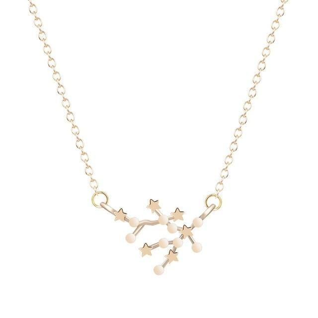 Aquarius consellation star necklace