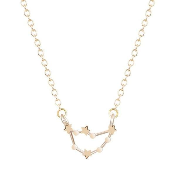 leo constellations star necklace