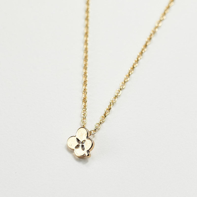 4 leaf clover minimalist necklace