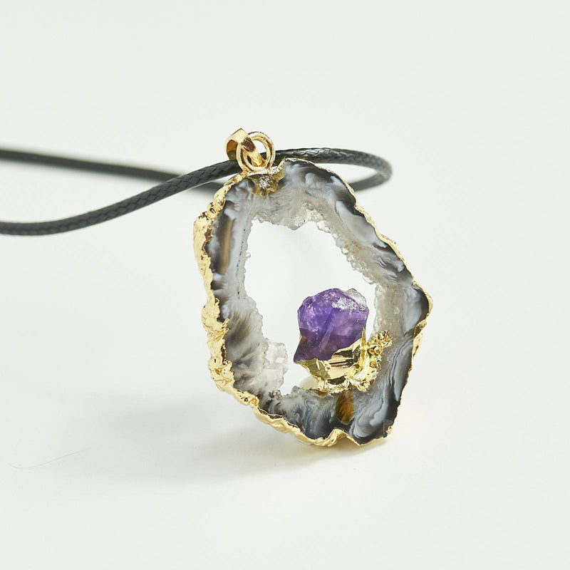 Amethyst Natural Crystal Necklace