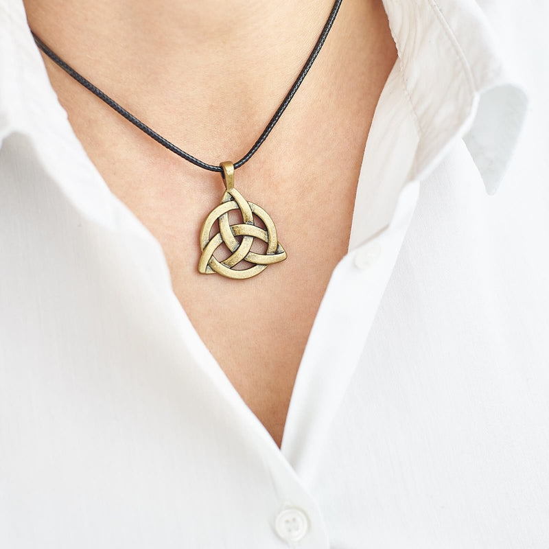 Celtic Knot Leather Necklace