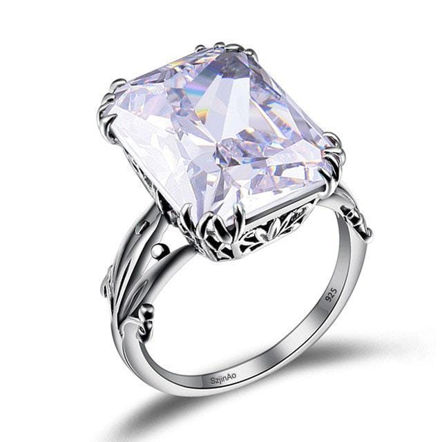 April Birthstone Zircon Ring