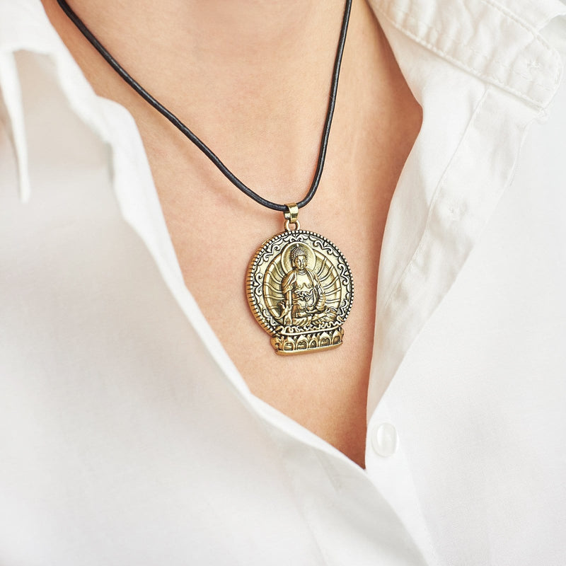 Eco-friendly material, nickle and lead free Buddha Mantra Amulet