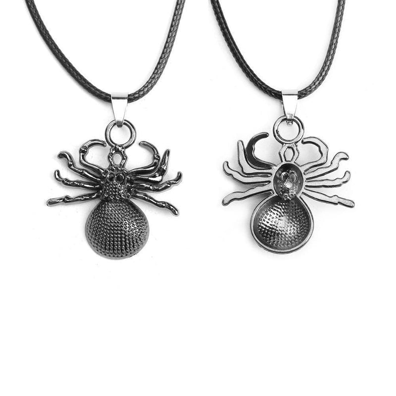 Creepy-Crawly Black Spider Necklace