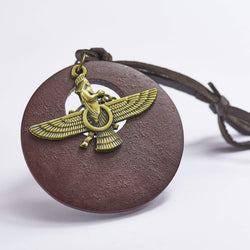 Egyptian Bronze Eagle Necklace