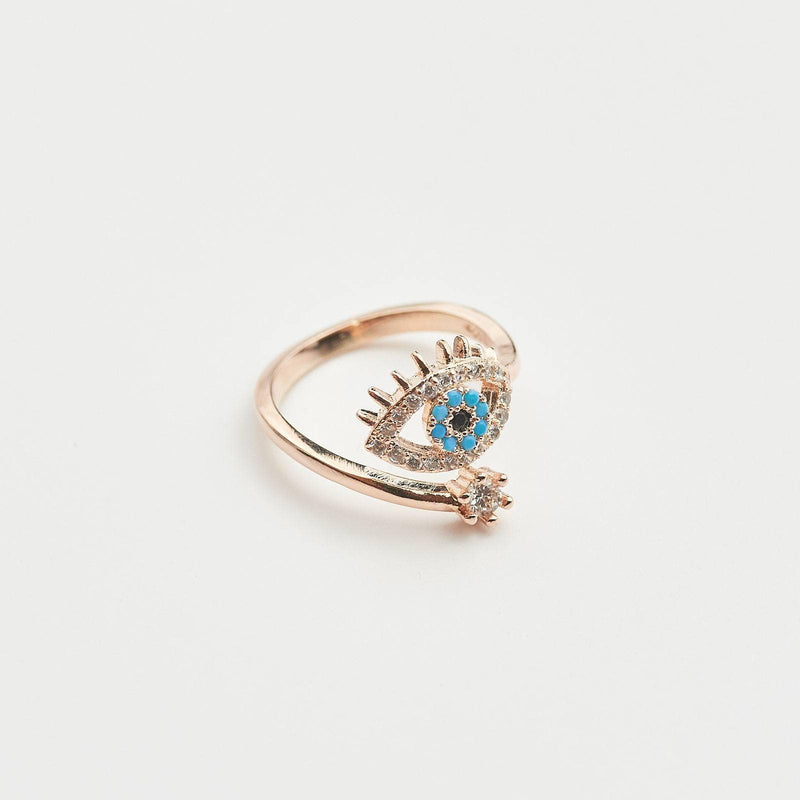 Eye Rose Gold Adjustable Ring