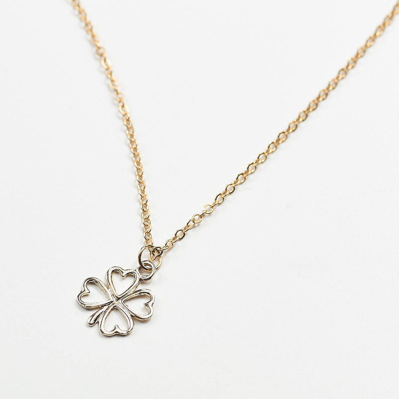 Four Leaf Clover Plated Necklace Card