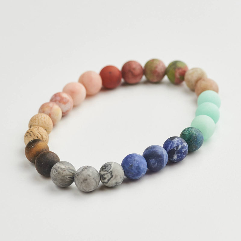 Galaxy Bracelet With Natural Beads