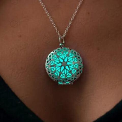 Glow Locket Pendant Necklace