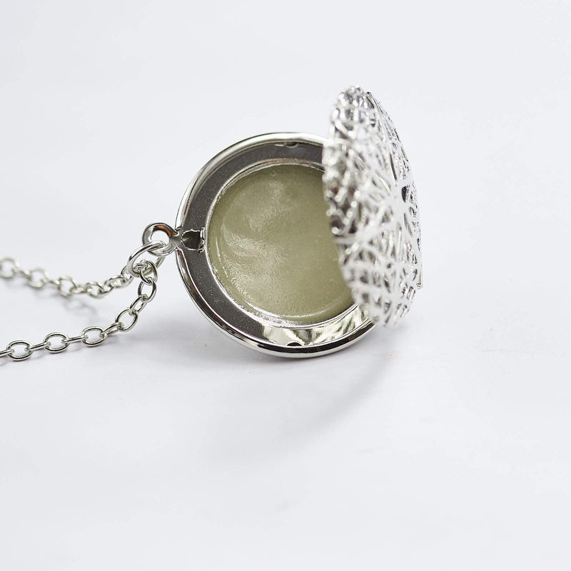 Glow In The Dark Locket Necklace