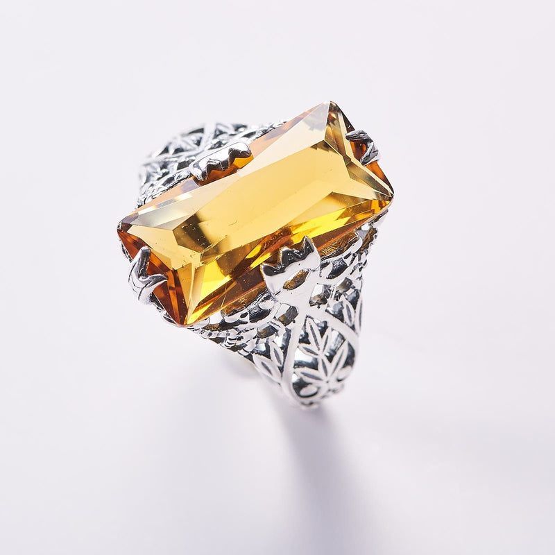 Gothic Amber Ring