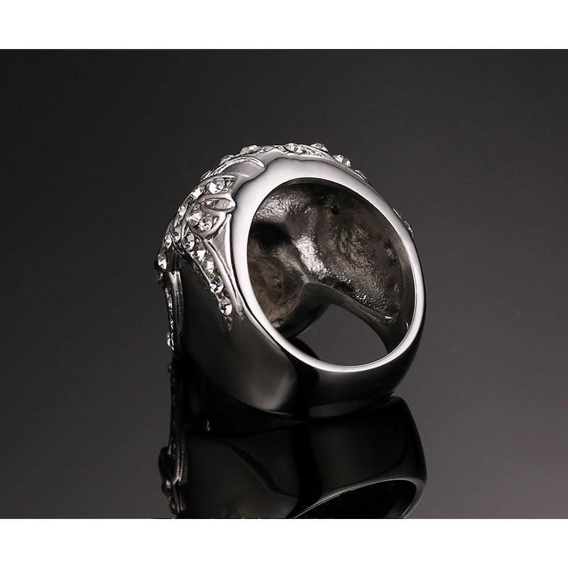 Gothic Skull Party Crystal Ring