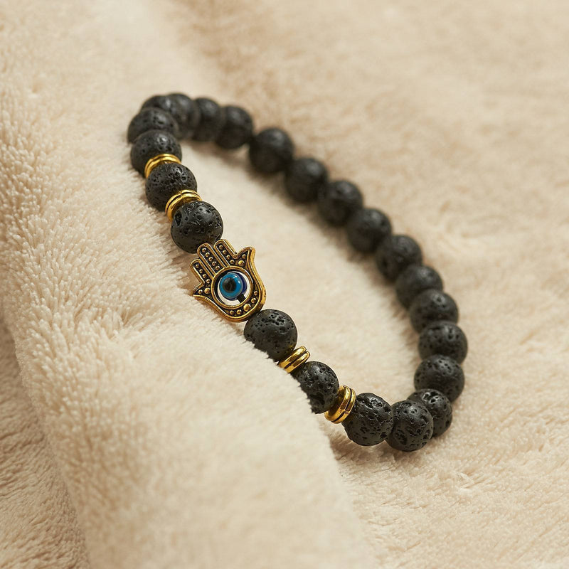 Bracelet With Black Lava Stone