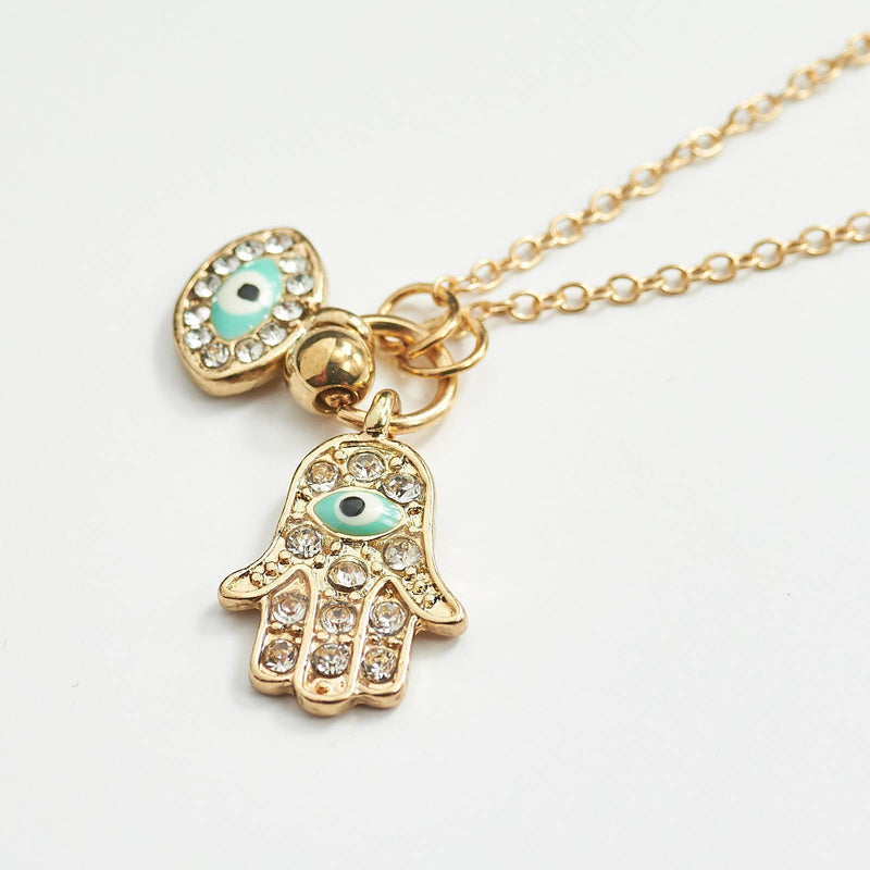 Hand Of Fatima Charm Necklace