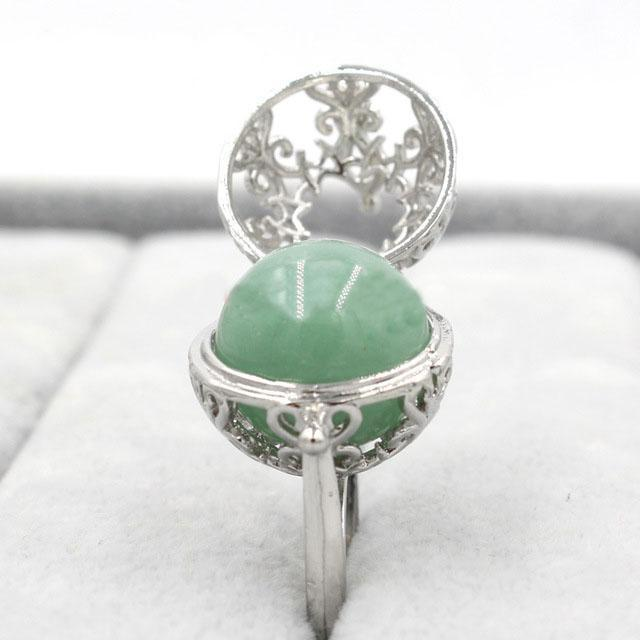 Healing Crystal Locket Aventurine Ring