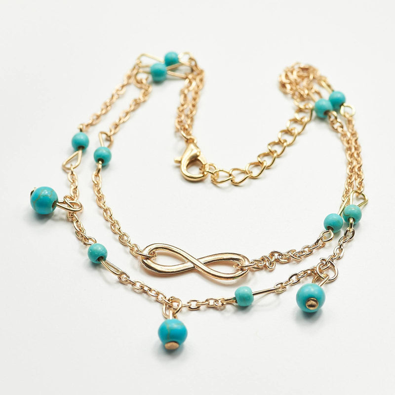 Infinity Turquoise Ankle Bracelet