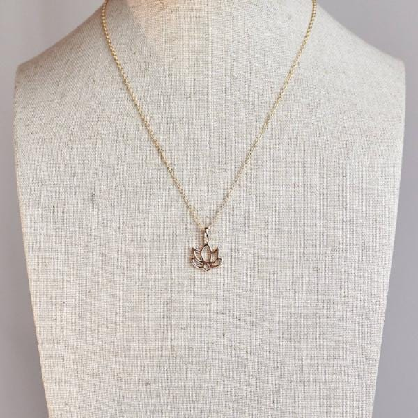 Wish Necklace with Lotus Flower