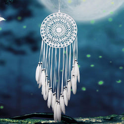 Large Traditional White Dream Catcher