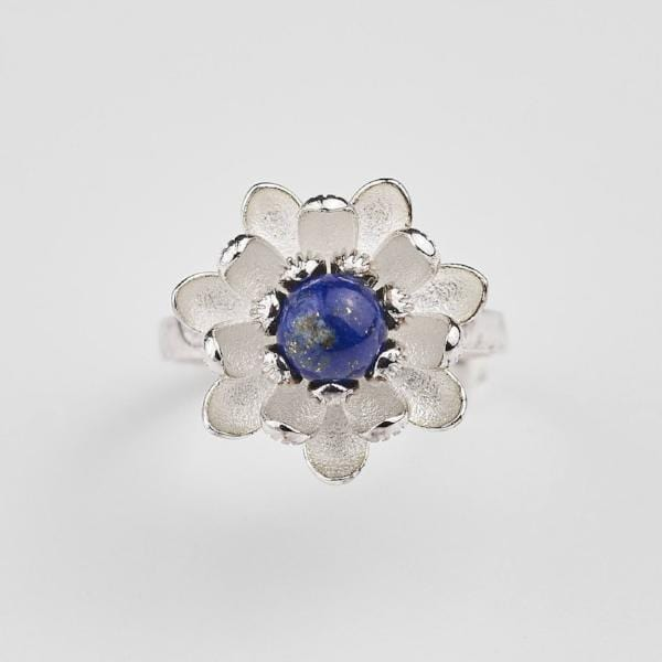 Lotus Flower and Lapis Lazuli Ring