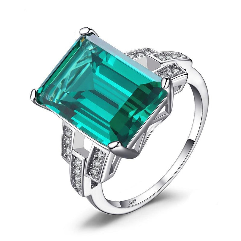 May Birthstone Emerald Ring