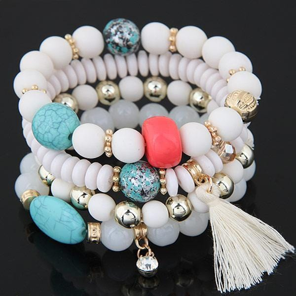 Tassel and Bead Bracelet
