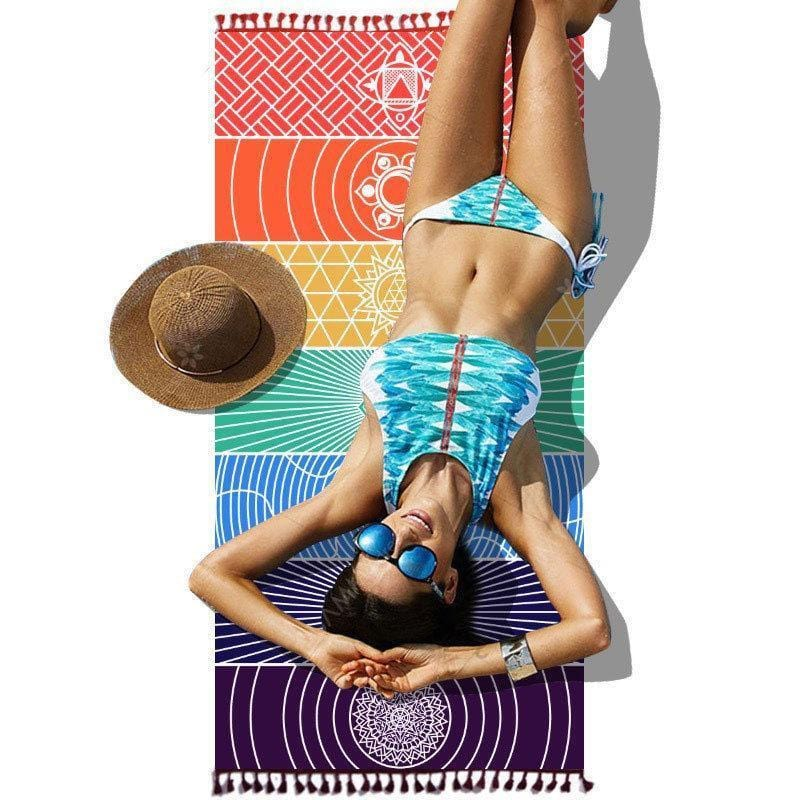 Rainbow Yoga Mat Towel