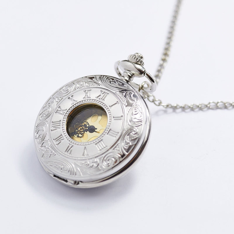 Roman Numeral Silver Pocket Watch