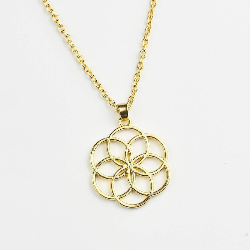 Sacred Geometry Flower Of Life Mandala Necklace
