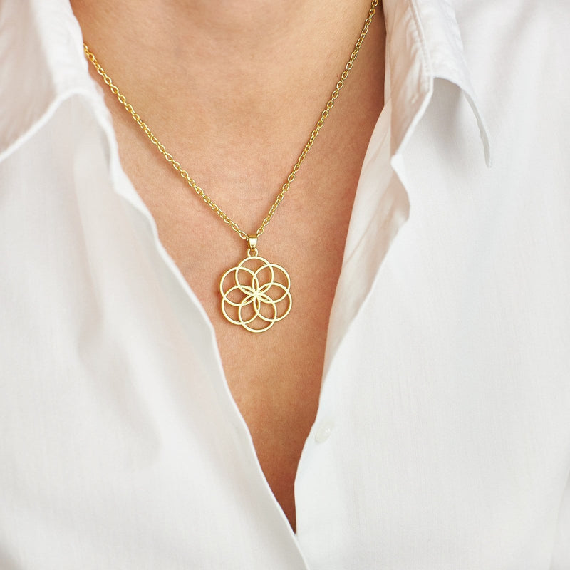 Sacred Geometry Flower Necklace