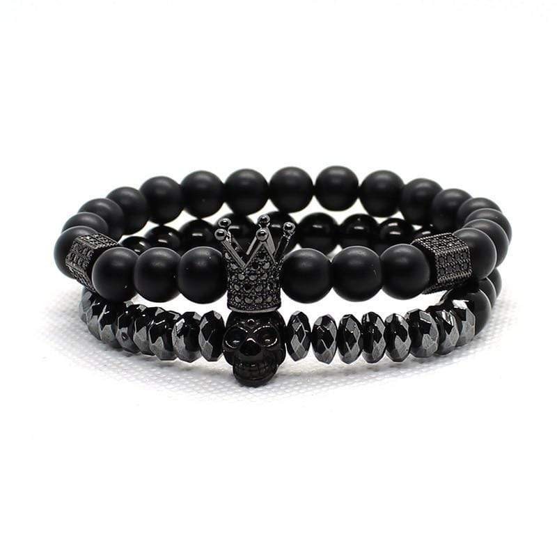 Skull King of the Crown Bracelet Set
