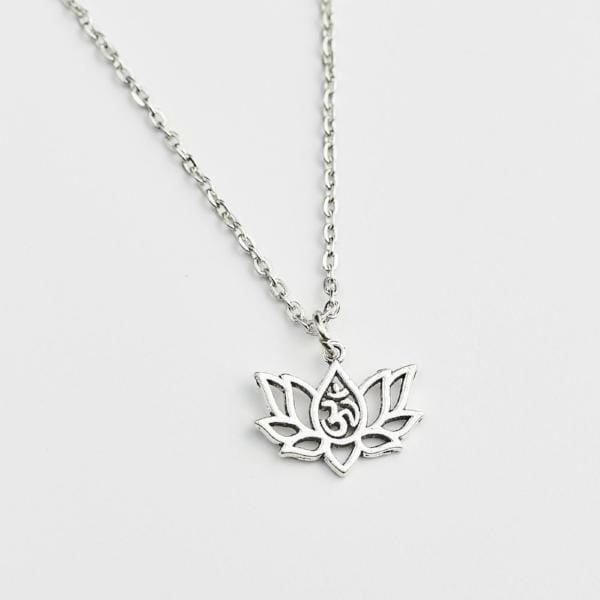 Thai Lotus Flower and Om Necklace
