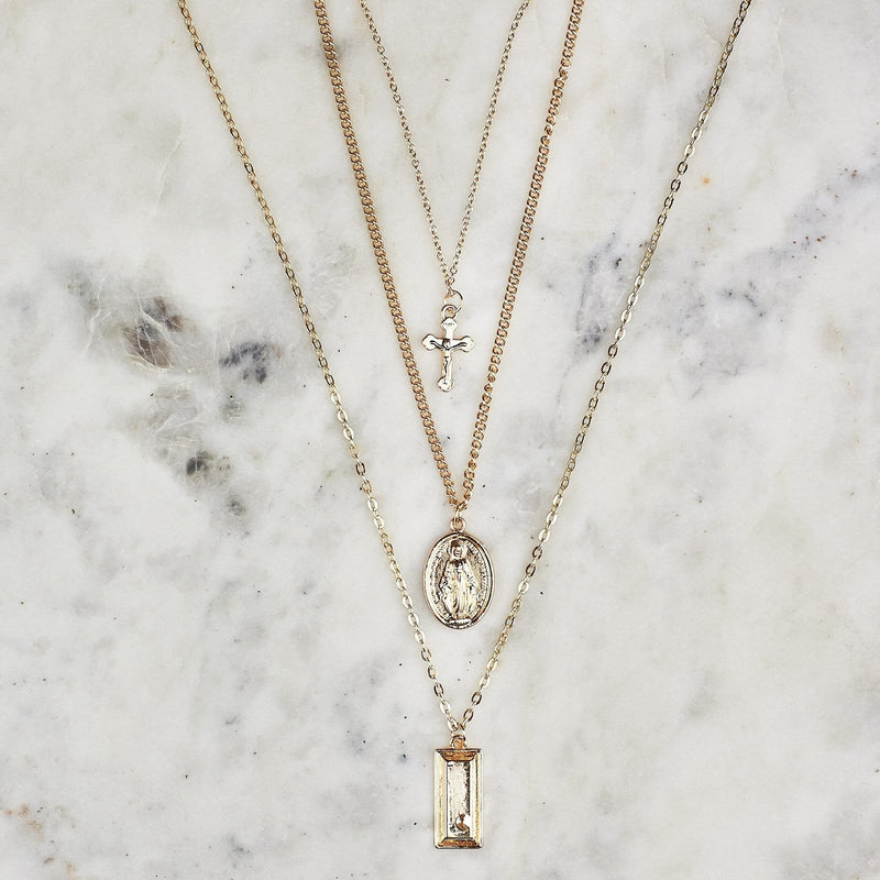 The Holy Virgin Mary Bohemian Necklaces