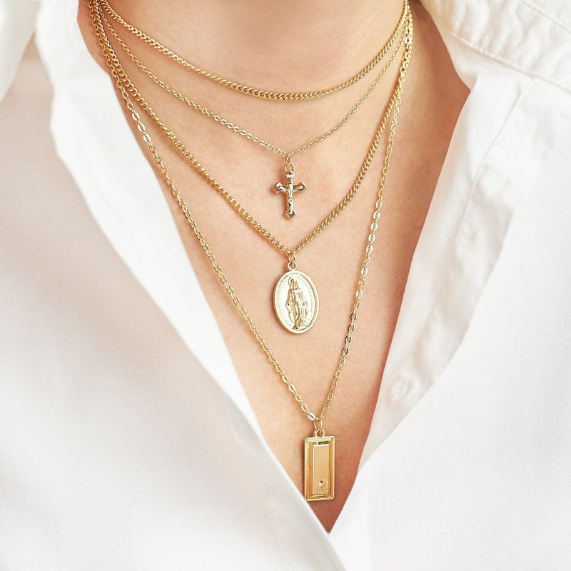 Holy Virgin Mary Bohemian Necklaces
