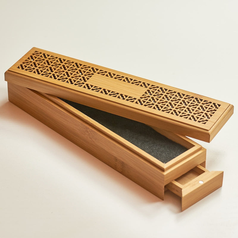 Tibetan Incense Burner Bamboo Box