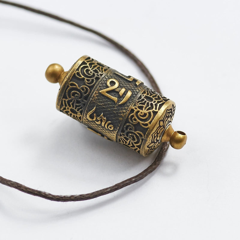 Tibetan Prayer Wheel Mantra Necklace