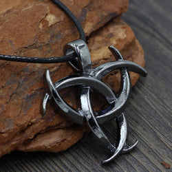Triple Horn Of Odin Pagan Necklace