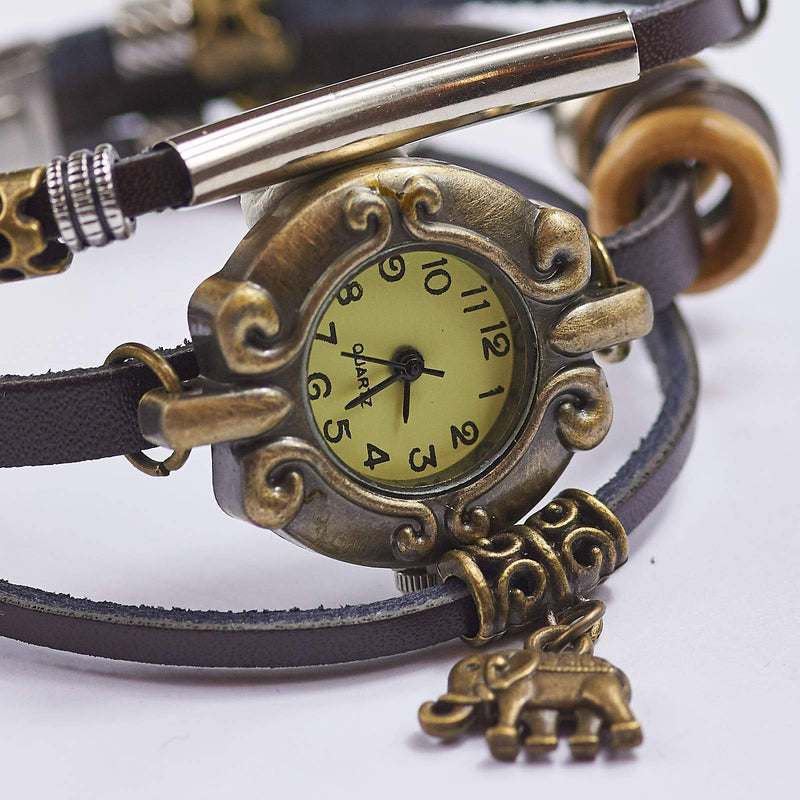 Vintage Watch With Elephant Charm