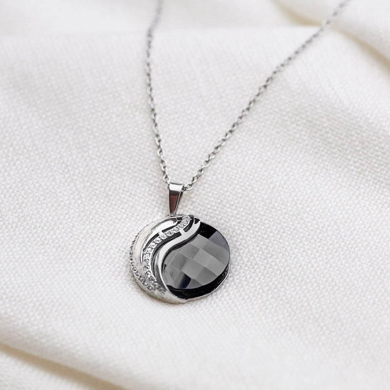Yin Yang Steel Necklace