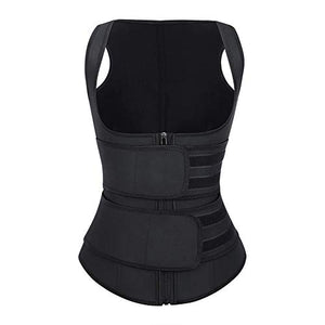BODYBYCHOCO Clip&Zip Body Tummy Shaper Slimming Latex Waist Trimmer Corset Vest
