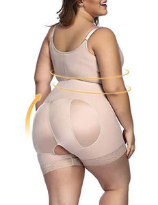 Tummy Control Shapewear Open Bust Bodysuit Seamless Body Shaper (S-5XL)