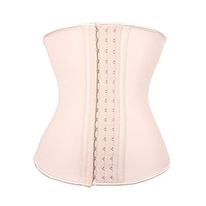 Brazilian Beauty Women's Latex Underbust Corset Waist Training Cincher 9 Steel Boned (XXS, Beige) shopnitic.store: