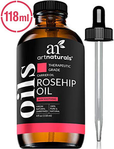 ArtNaturals Rosehip Seed Oil 4 oz for Face, Hair & Skin - 100% Pure Natural, Cold Pressed & Unrefined Rose Hip Oil - Anti-Aging Moisturizer Facial Oil for Dry Skin, Fine Lines, Scars & Wrinkles: Beauty