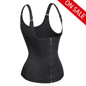 KISSIE Women's Underbust Corset Waist Trainer Cincher Steel Boned Body Shaper Vest with Adjustable Straps (3XL, Black) at Amazon Women's Clothing store: