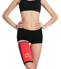 Snatching Thigh Slimmer Trimmer Sports Thigh Support Brace for Weight Loss Helps Improve Circulation and Sweating(1 pair Red): Sports & Outdoors