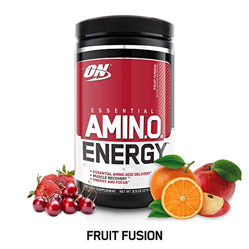 OPTIMUM NUTRITION ESSENTIAL AMINO ENERGY, Fruit Fusion, Preworkout and Essential Amino Acids with Green Tea and Green Coffee Extract, 30 Servings: Health & Personal Care
