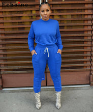 Women Two Piece Set Casual Long Sleeve Long Pants Tracksuit