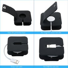 Charging Stand Charge Dock Holder Wallet Suit for iWatch all 38mm/42mm and for Apple Watch Made of Soft TPU/Silicon Material