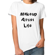 New Hot Fashion Casual T-shirts Women  Makeup Artist Life Print T-shirts Regular Solid O-neck Cotton T-shirts