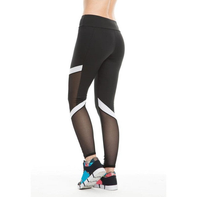 Mesh Patchwork Sports Legging and Yoga Pant For Women