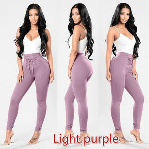 New High Waist Slim Skinny Leggings Stretchy Pants Pencil Pants for  bodysuit